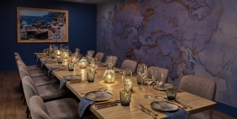 A private dining table at Kostali