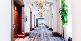 A hallway in The Gwen.